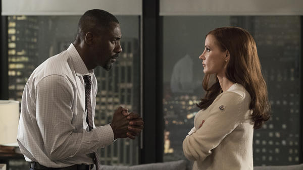Idris Elba and Jessica Chastain star in <em>Molly's Game.</em>