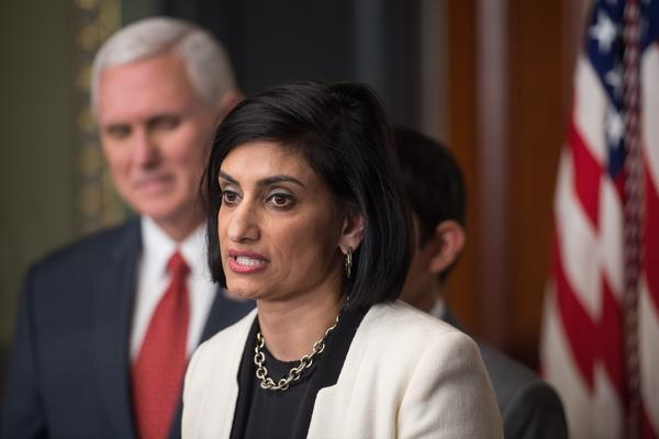 Seema Verma, administrator of the Centers for Medicare and Medicaid Services, led efforts to require work for Medicaid recipients while in charge of Indiana's program. She was sworn in as administrator of the Centers for Medicare and Medicaid Services by Vice President Pence on March 14.