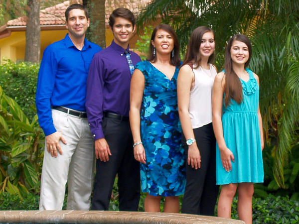 The Schentrup family in 2016: Philip, Robert, April, Carmen and Evelyn. Carmen was 15.