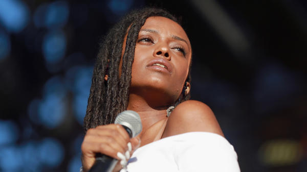 Kelela performing in Los Angeles, Calif. in October 2017.
