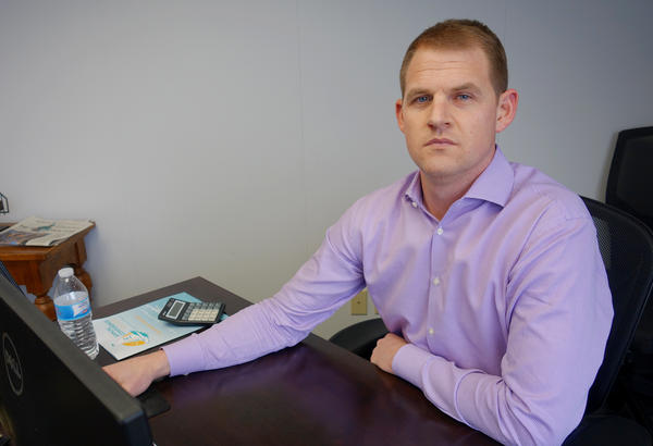 Brian Carrico, now the president of Innovative Health Solutions, worked with Dr. Arturo Taca to adapt the company's existing nerve stimulator so it could be worn during opioid withdrawal.