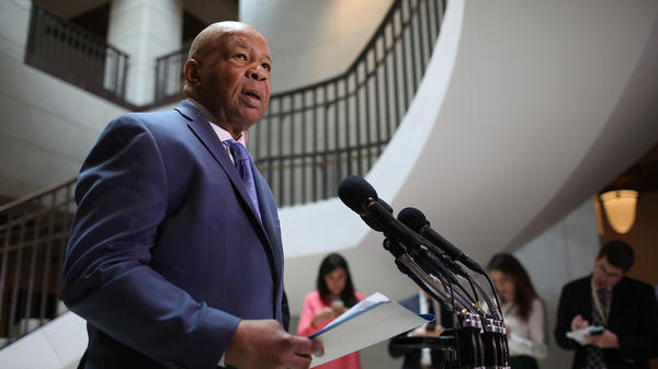 The House Committee on Oversight and Government Reform's top Democrat, Rep. Elijah Cummings seen here in 2017, co-signed a letter requesting a subpoena for documents about the 2020 census citizenship question from the Census Bureau and Commerce Department, which oversees the census.
