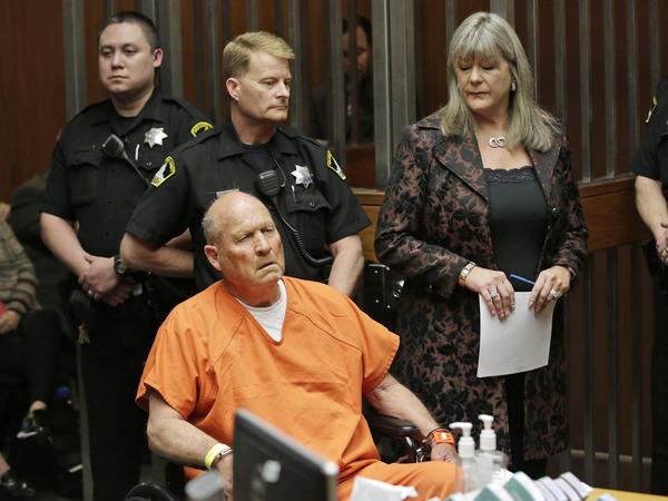 Joseph James DeAngelo, who authorities suspect is the so-called Golden State Killer responsible for at least a dozen murders, is arraigned in Sacramento, Calif., on Friday.