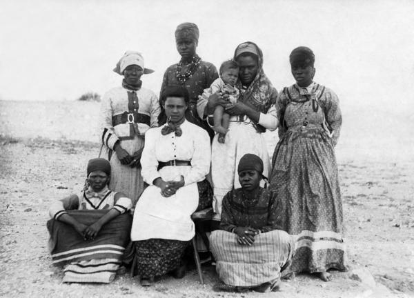 """A photo of Herero women was published by <em>Berliner Illustrirte Zeitung</em> in 1904, the year the Herero launched an uprising against German colonists, leading to an """"extermination"""" order for the ethnic group."""