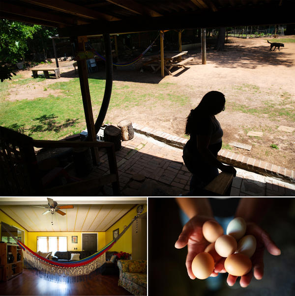 Ms. A.B. and her housemate have made their home into a little corner of El Salvador. She says it all reminds her of the homeland she fled to get away from her abusive ex-husband.