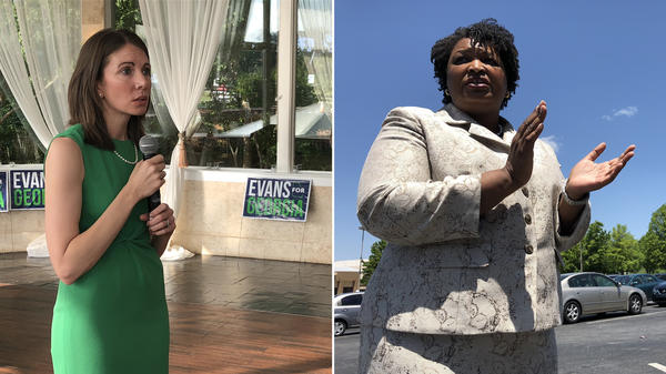 Stacey Evans (left) and Stacey Abrams (right), the two candidates running for governor in the Georgia Democratic primary on May 22. They have plenty of similarities: they're both women named Stacey; they're both former legislators in the Georgia House of Representatives; they're both lawyers; and they're both calling for similar progressive policies, such as expanding Medicaid.