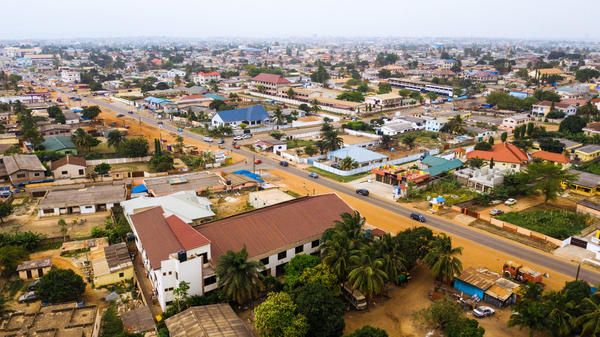 This neighborhood, on the outskirts of Ghana's capital, Accra, is home to 5-year-old Herbert Agbavor. Private preschools have been popping up every few blocks.