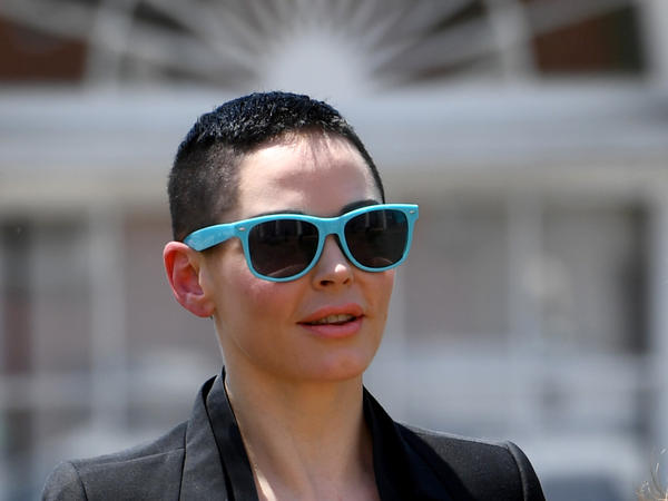 Rose McGowan appears at Loudoun County District Court for a preliminary hearing after cocaine was found in the wallet she left on an airplane at Dulles International Airport last year. She says she believes she was framed.