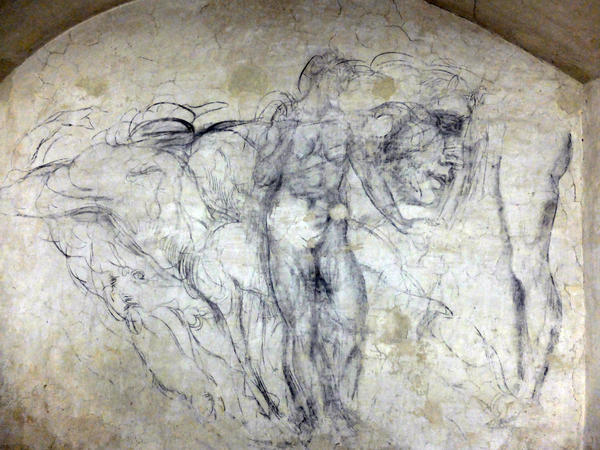 In a secret room located in Florence's church of San Lorenzo the walls are covered in drawings believed to be the work of Michelangelo and his disciples.