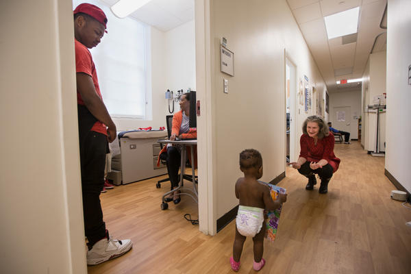 D'Monte and Kiera stop by the clinic because their daughter is running a fever.