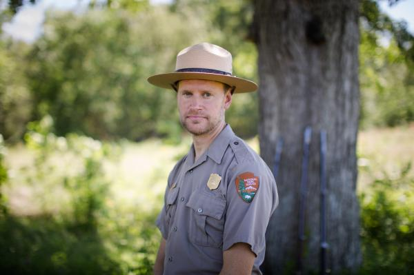 Brandon Bies, superintendent of the National Park Service's Manassas site, is also an archaeologist and Civil War expert.
