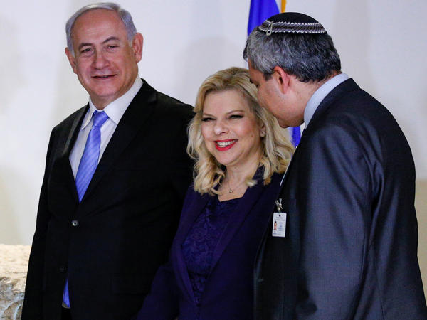 Sara Netanyahu, wife of Israeli Prime Minister Benjamin Netanyahu (left), is charged with fraud and breach of trust over her ordering of food from pricey restaurants for private meals.