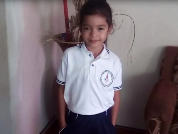 A screenshot from a video produced by ProPublica about 6-year-old Alison Jimena Valencia Madrid who had just crossed into the U.S. before she was detained and separated from her mother. An audio recording of Alison pleading for someone to call her aunt sparked national outcry and condemnation.