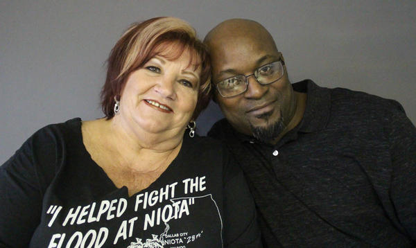 Neoma Farr and Greg Yance reconnected in April for the first time after the Great Flood of 1993 drove them to protect the same community. Yance works as a machine operator at a factory in Rockford, Ill. Neoma still runs a beauty shop in Niota.