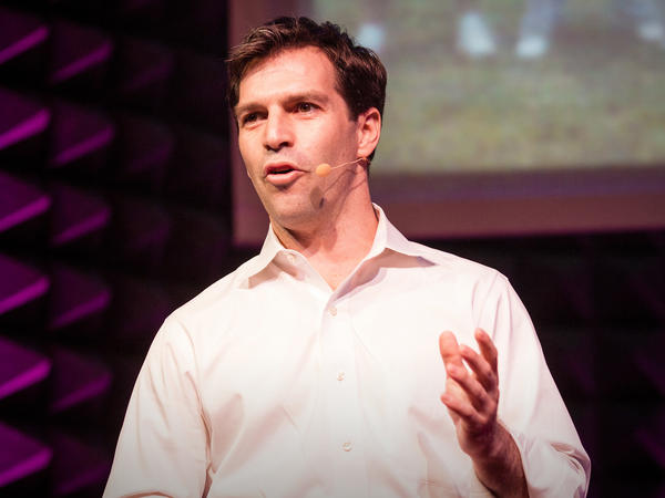 Jeff Smith on the TED Stage.