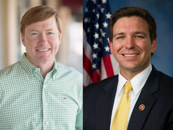 Agriculture Commissioner Adam Putnam (L) and Congressman Ron DeSantis (R).