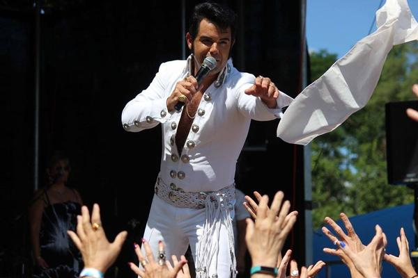 At Elvisfest, the artists pay tribute to the King with concert performances, costumes, and classic dance moves.