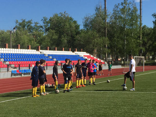 Youth coach Valeriy Kruntiayev says he's been using World Cup matches as material for training and has even overheard preschoolers discussing the games.