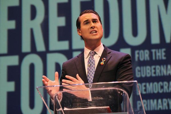 Chris King at the Florida Democratic Primary Gubernatorial Debate in June.