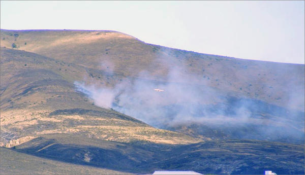 The Conrad Fire, burning outside of Naches, Washington, started Sunday afternoon.