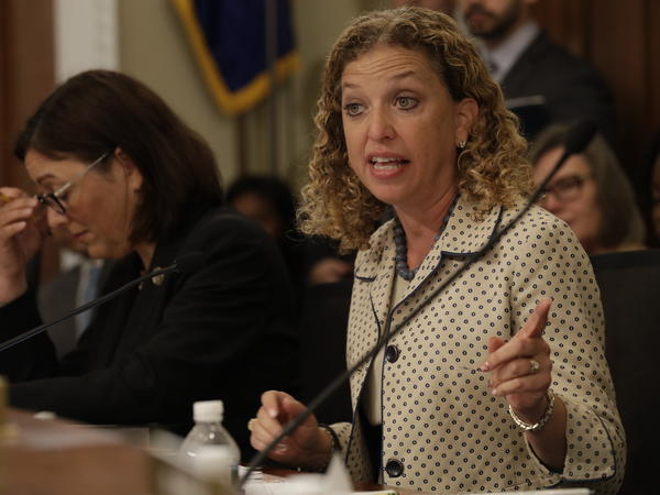 Rep. Debbie Wasserman Schultz, D-Fla., the former chair of the Democratic National Committee, on Capitol Hill in May 2017. A former IT staffer who worked for Wasserman Schultz pleaded guilty Tuesday to one count of lying on a loan application.