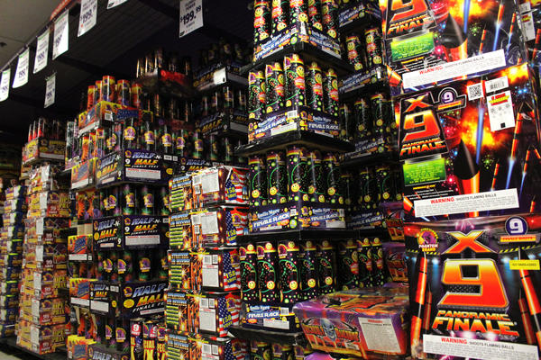 Key Largo's Phantom Fireworks selection rivals other roadside vendors nearby on Tuesday, July 3, 2018.