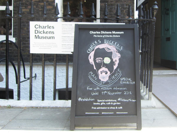 The Charles Dickens Museum near King's Cross rail station in London recently opened an exhibit on Dickens' scientific influence.