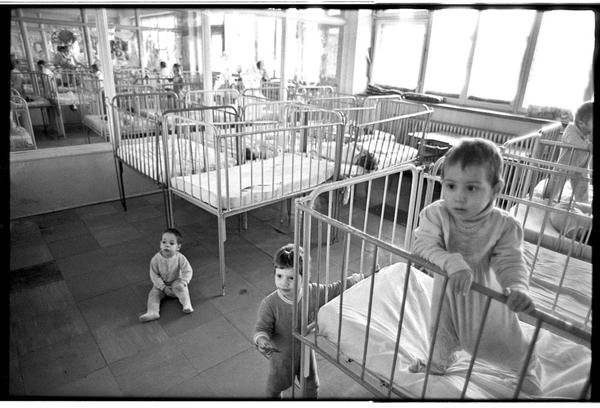 Children in a Romanian orphanage, who were part of a Harvard study on neglect and deprivation.