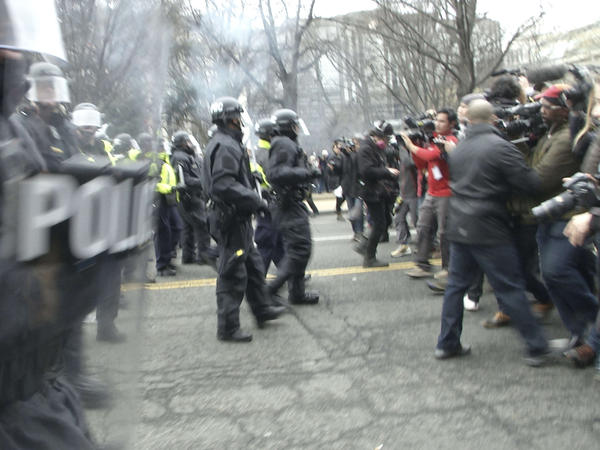 Demonstrators clashed with police on Inauguration Day last year, resulting in more than 200 arrests. The last of those cases have now been dismissed by prosecutors.