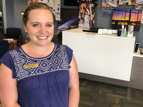 "Kristen Cochran, a senior at Cedarville University, a christian college in Ohio, said the president can sometimes be ""crass,"" but she likes how he's governing."
