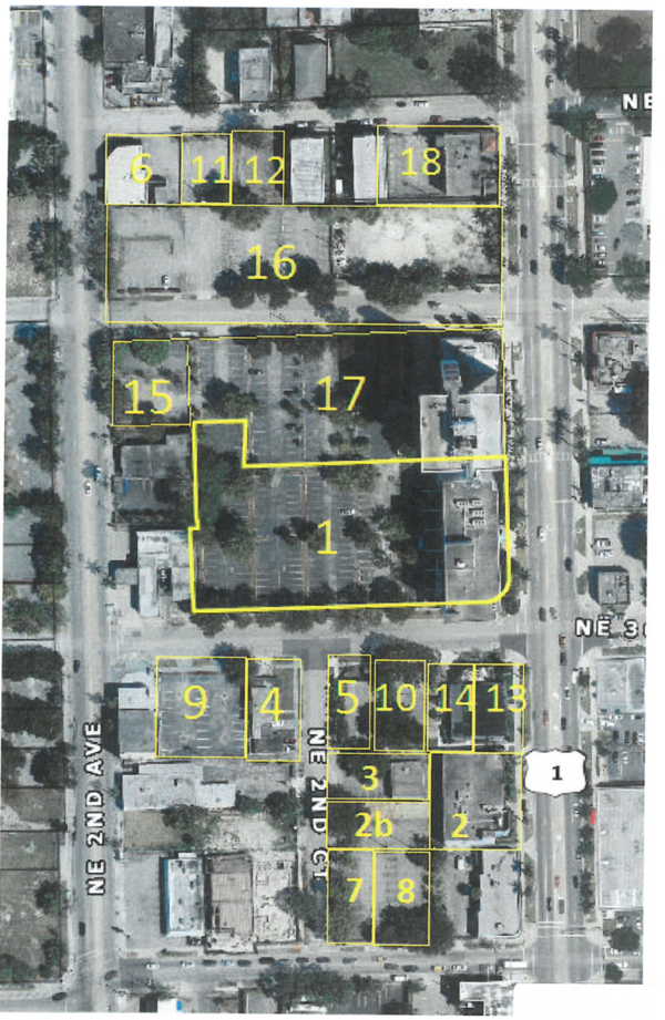 Future site of jai alai and poker room operations. Highlighted area marks sites included in state permit.