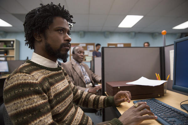 Lakeith Stanfield stars as telemarketer Cassius Green in <em>Sorry to Bother You.</em>