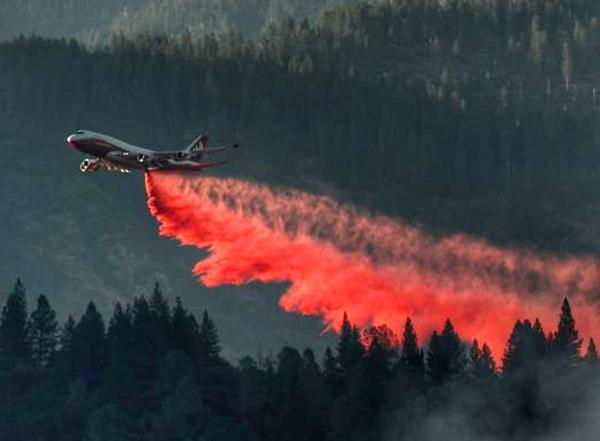 "A Boeing 747 called the ""Spirit of John Muir"" is currently deployed to fight fires in California."