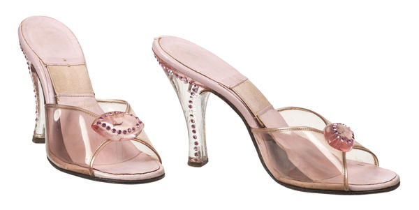 These pink mules from the 1950s belonged to Ginger Rogers.