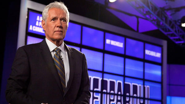 Alex Trebek, the host of <em>Jeopardy!</em>