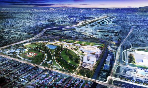 Beckham's for-profit venture would transform the bulk of the golf course into a commercial complex with a 28,000-seat soccer stadium, nearly 140,000 square feet of shops and restaurants, and one of the largest office centers in the county.