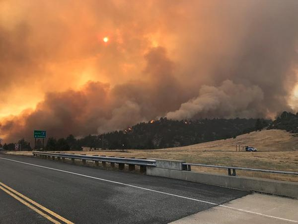 <p>The Klamathon Fire which started July 5, 2018, is burning its way along the California-Oregon border.</p>