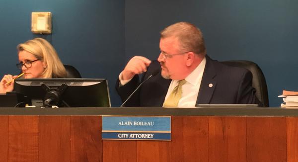 City Attorney Alan Boileau, explaining amendments to the Pier 66 development plan.