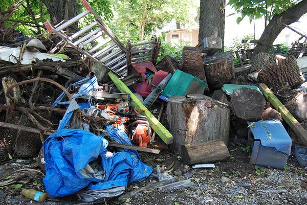 Deputy Kotlas says she takes plenty of photos when investigating an illegal dumpsite, like this one on Borden Street.