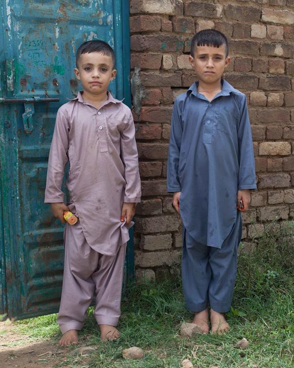 Brothers celebrating Eid.