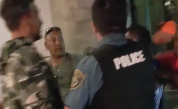 <p>Screenshot of video showing moments leading up to officer-involved shooting of Jason Washington on Portland State University's campus.</p>