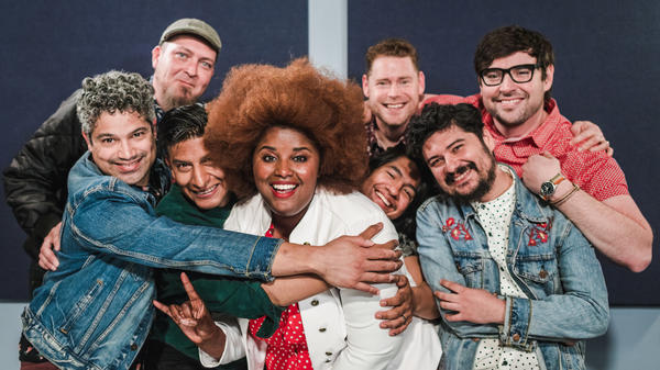 The Suffers inside the World Cafe Performance Studio