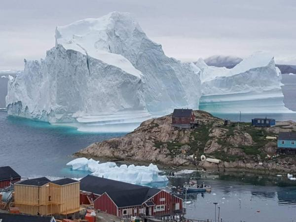Scientists say the iceberg is unstable and could be a threat to the village nearby.