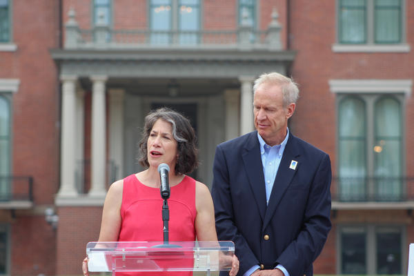 First Lady Diana Rauner chairs the Illinois Governor's Mansion Association and helped plan the renovation.