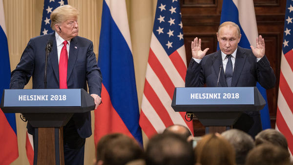 "President Trump said of Russian President Vladimir Putin, ""I called him 'main competitor,' and a good competitor he is."""