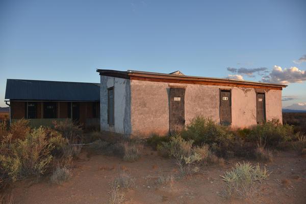 An adobe ranch house at Trinity Base Camp. (Courtesy Jeff Rice)