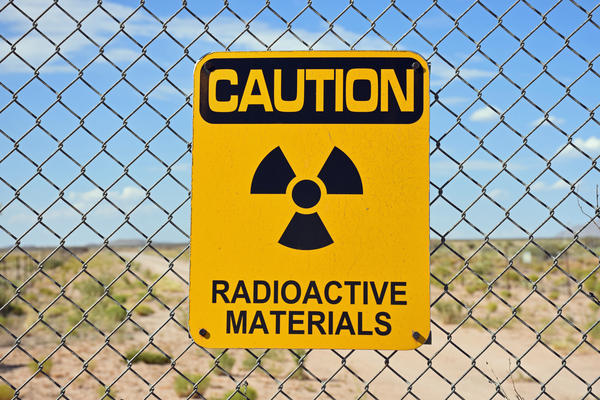 A radiation warning sign near the Trinity atomic test blast site. (Courtesy Jeff Rice)
