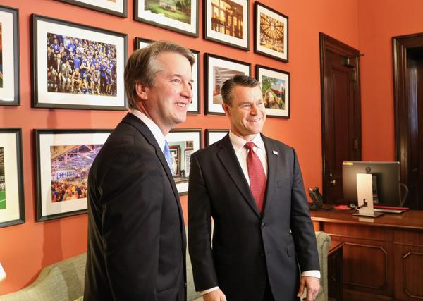 Supreme Court nominee Brett Kavanaugh meets with U.S. Senator Todd Young.