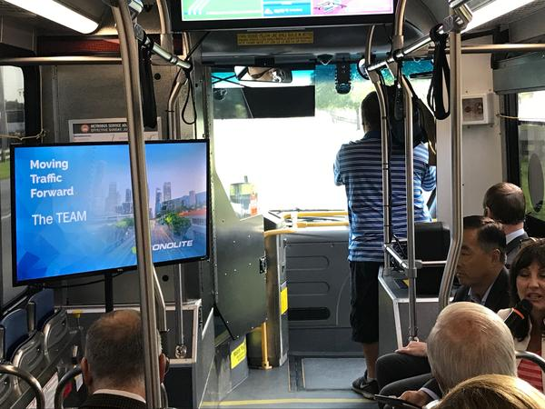 The South Dade busway is the only bus route that already has the new light system.