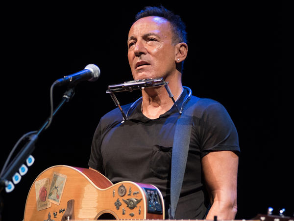 """Bruce Springsteen, performing in """"Springsteen on Broadway"""" in an undated photo."""